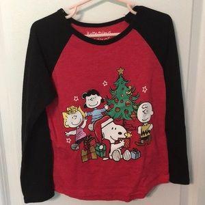 Jumping beans 5t snoopy peanuts Christmas shirt